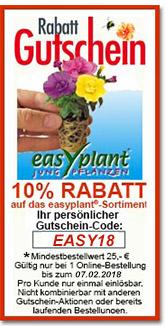 Easyplant gutschein