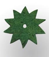 Topfuntersetzer �Stern� gr�n 40 cm,1 St�ck