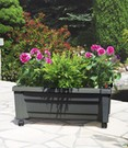 calypso pflanzkasten auf rollen mit bew sserungssystem wei baldur garten. Black Bedroom Furniture Sets. Home Design Ideas