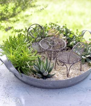 Mini-Garten Bistro-Set ´braun´ 3-teilig,1 Set