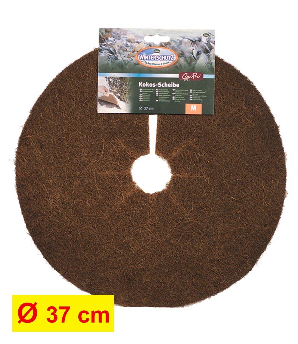 Kokos-Abdeckscheibe 37 cm dunkelbraun