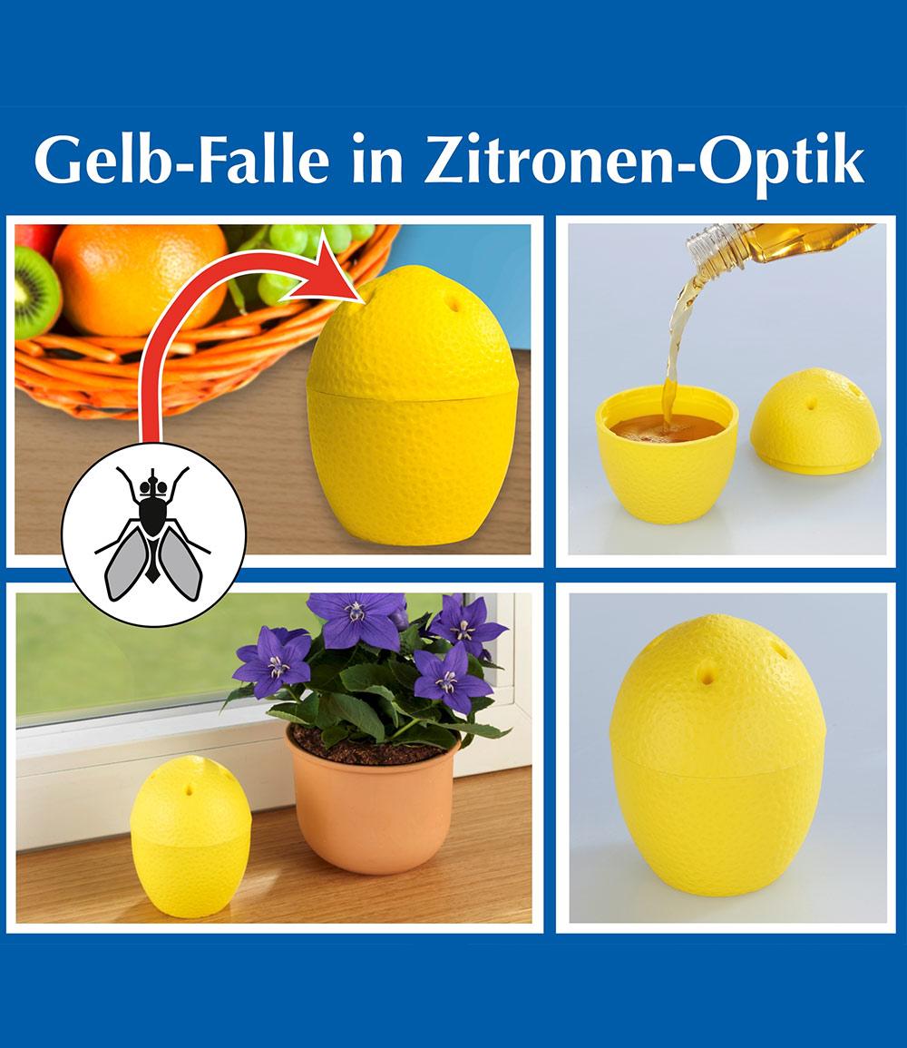 Gelb-Falle in Zitronen-Optik