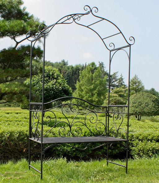Bank mit Rosenbogen: Top-Qualität kaufen  BALDUR-Garten