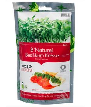 Seeds & Cooking BIO-Basilikum Kresse,1 Beutel - broschei