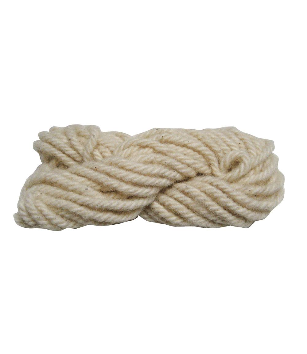 Bindeschnur aus Schafwolle 'naturweiß' 1 m