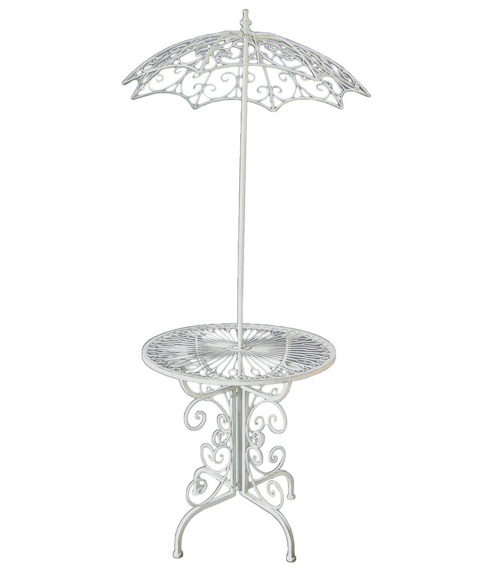 Deko Tisch STROMBOLI mit Sonnenschirm