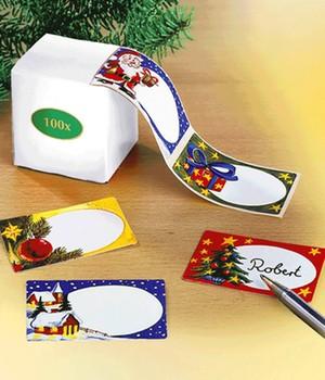 Weihnachts Geschenk-Aufkleber 100 St.,100 Stück