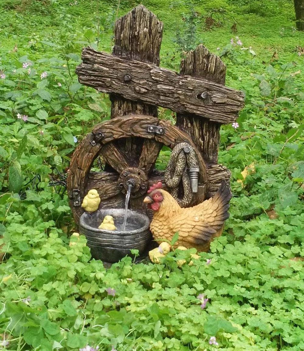 """*NEU*: Gartenbrunnen """"Helios"""" aus Polyresin, bunt"""