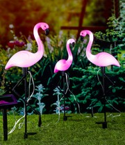 Solar Gartenstecker Flamingo 3er Set