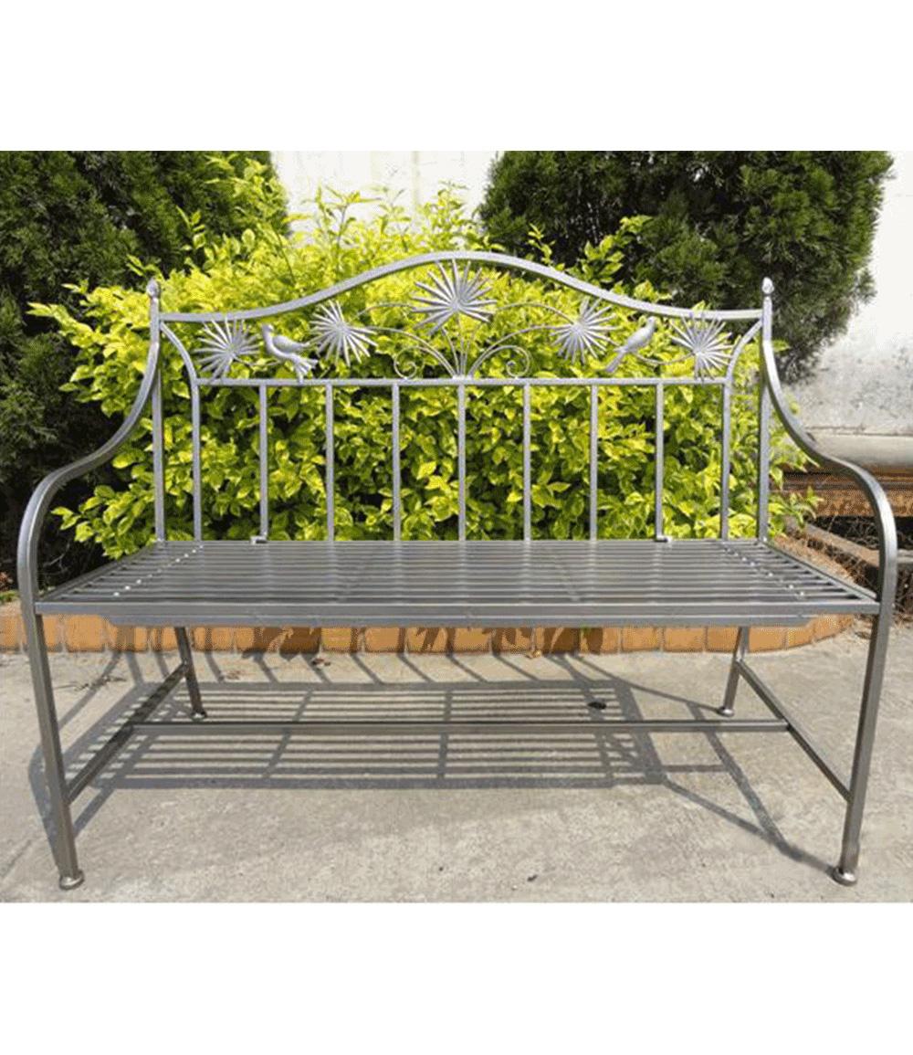 *NEU*: Gartenbank aus Metall, antikbraun (Kopie)