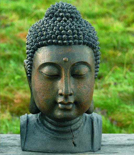 kunstharz buddhakopf 26 cm hoch buddha figur garten bei baldur garten. Black Bedroom Furniture Sets. Home Design Ideas
