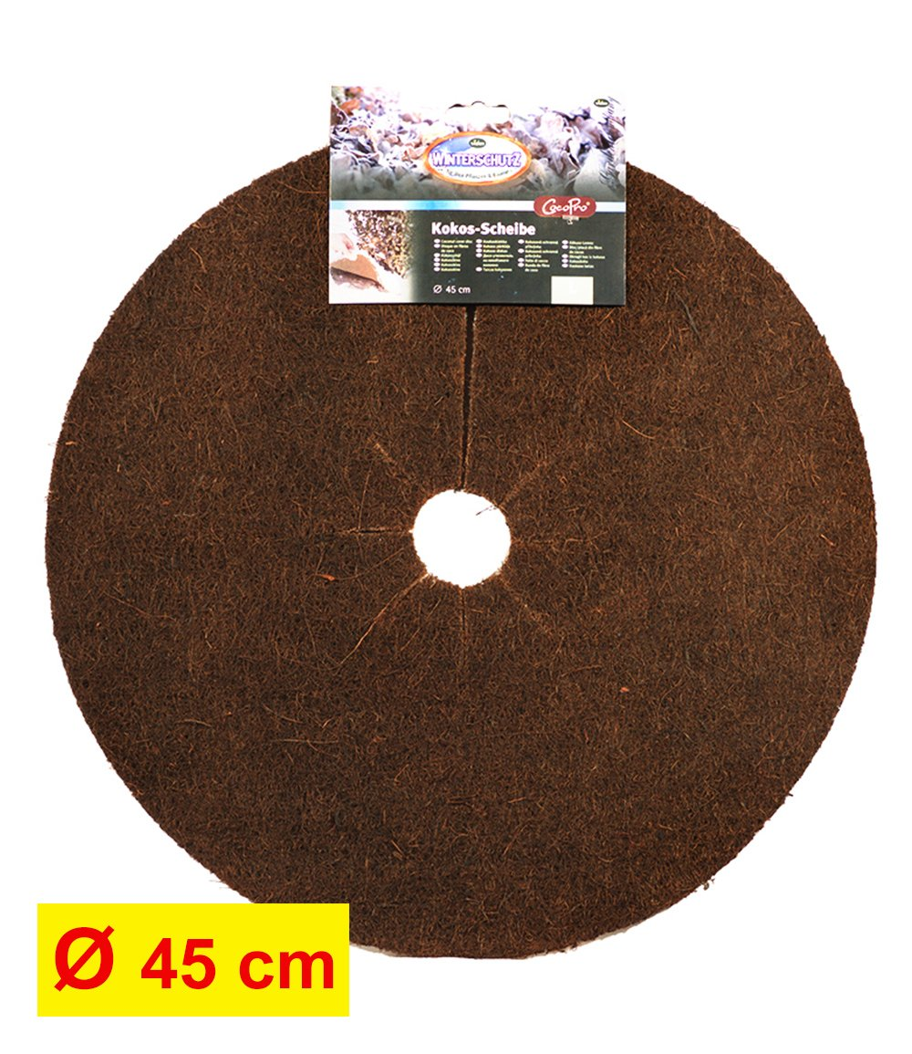 Kokos-Abdeckscheibe 45 cm dunkelbraun
