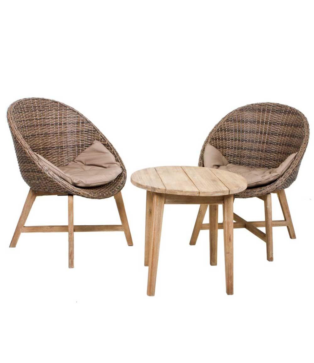 Sitzgruppe RENO, mit Auflage, hellbraun