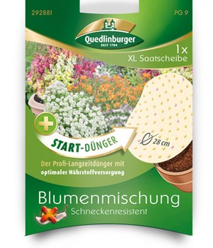 XL Saatscheibe Blumenmischung ´Schneckenresiste...