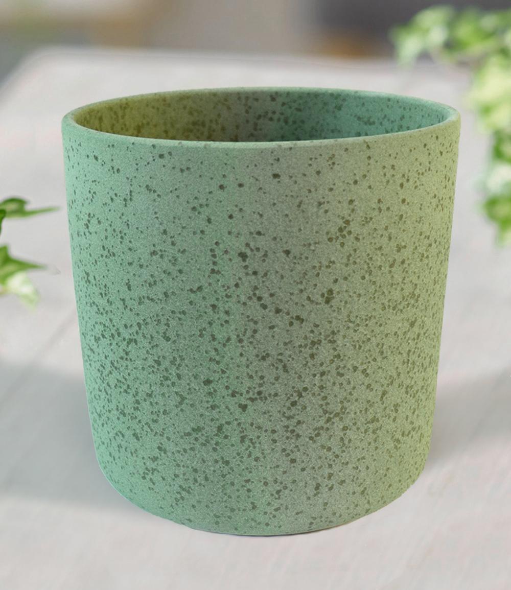 Keramik-Übertopf ø 17 cm 'grün'