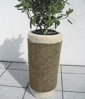 Winterschutzmatte aus Schafwolle  - grau -  200x100 Zentimeter,1 Stück