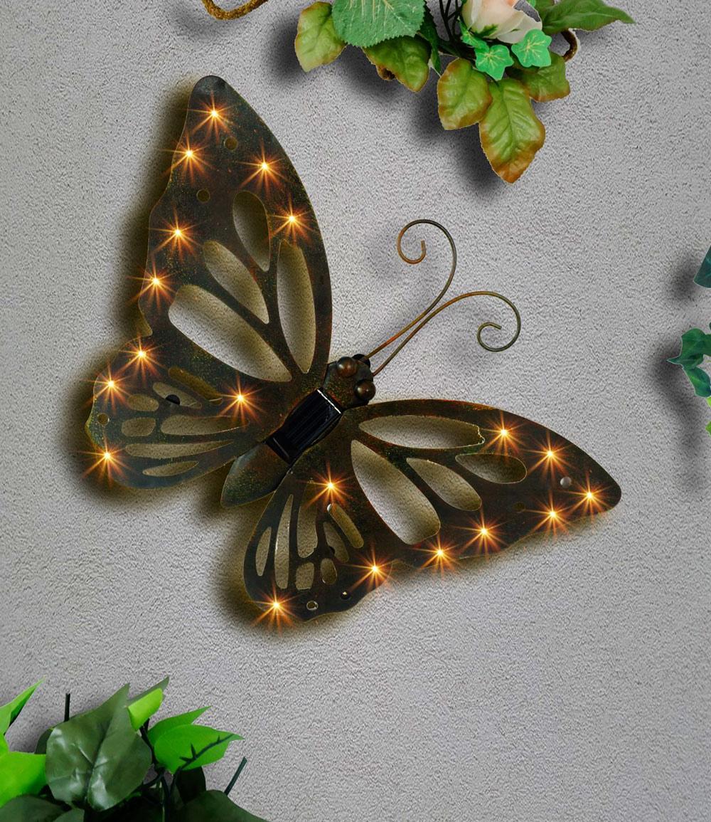 """Wand-Solarleuchte """"Schmetterling"""" aus Metall (Kopie) Baldur"""