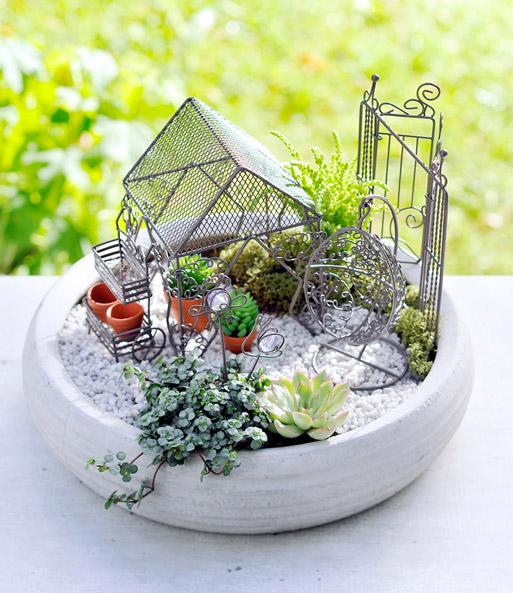 Mini Garten Pavillon Braun 1a Qualität Baldur Garten