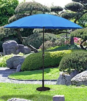Sonnenschirm mit 24 Streben, blau,1 Stück, 504914