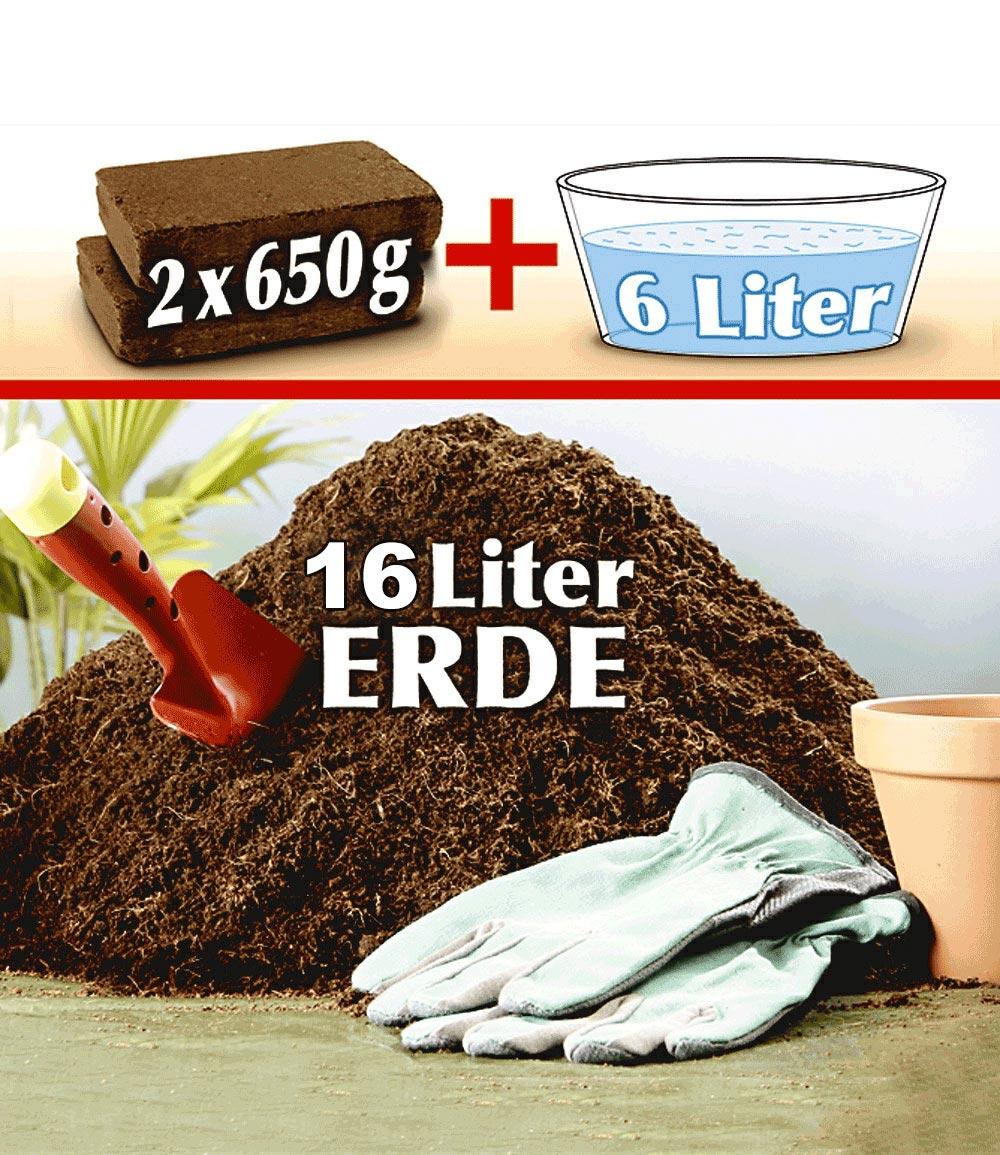 Pflanz-Erde aus Kokos-Faser für 16 Liter Erde