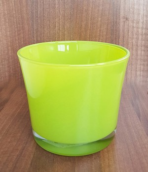 Glas-Übertopf ø 14 cm ´lime-grün´, 1 Stück jetztbilligerkaufen