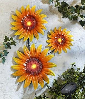 Solarwanddeko Sonnenblumen,3er-Set