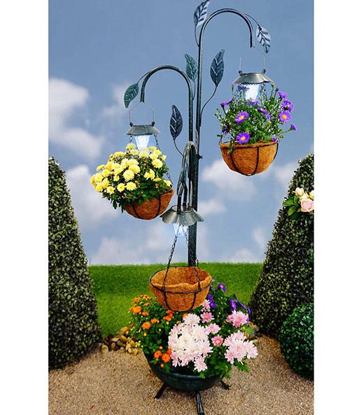 Pflanzständer Mit Led Solarleuchte Baldur Garten