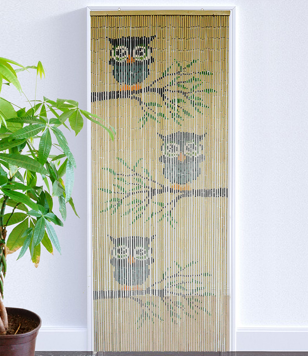 Bambusvorhang 'Eulen'