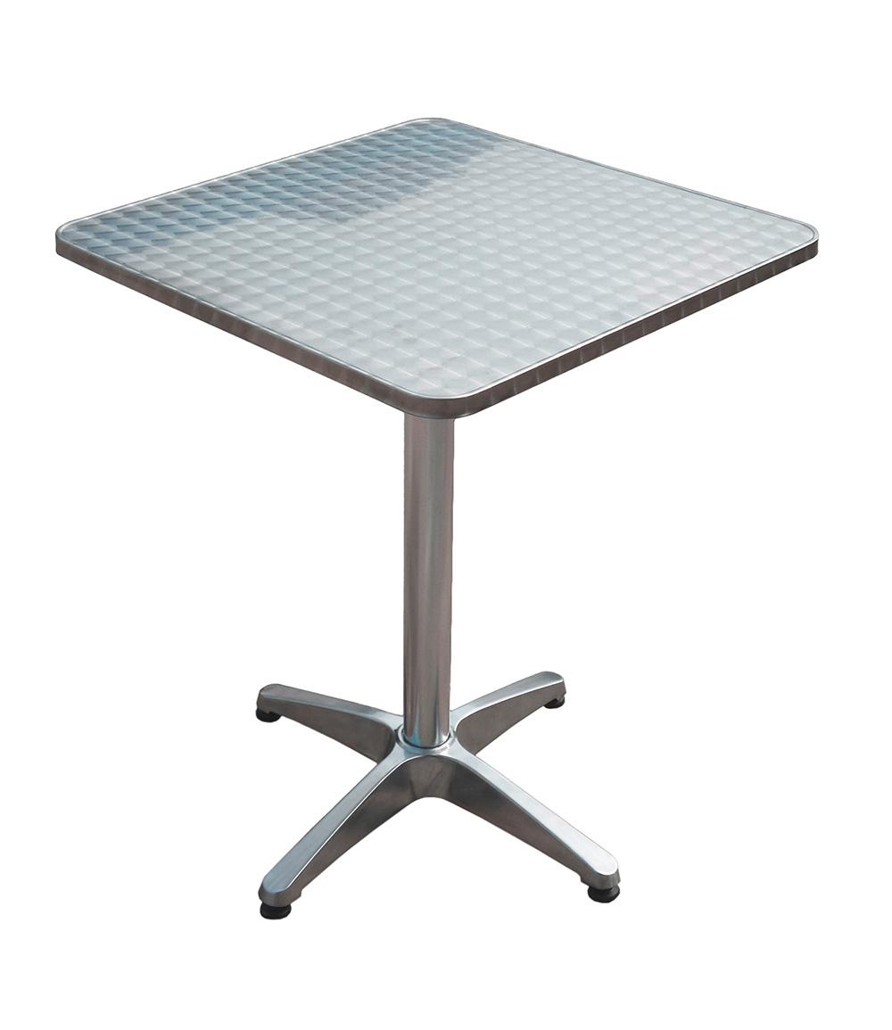 Bistro-Tisch quadratisch aus Alu & Stahl