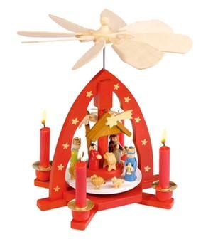 Weihnachts-Pyramide ´bunt´ 25 cm,1 St.