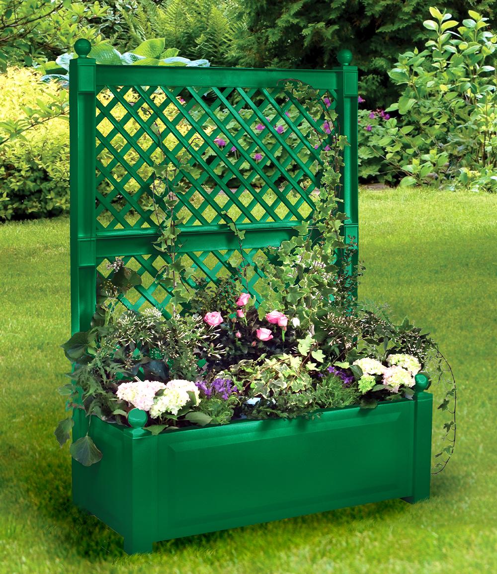 Pflanzkasten groß mit  Spalier 100 cm 'grün'