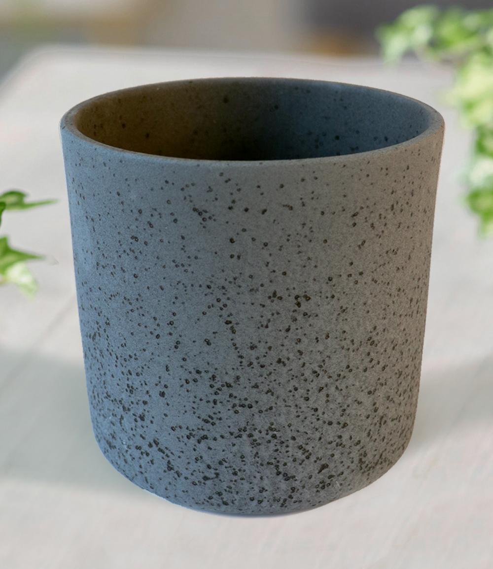 Keramik-Übertopf ø 17 cm 'schwarz'