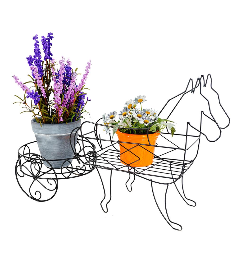 Pflanzregal 'Pferde mit Wagen'