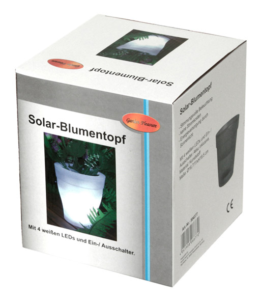 solar blumentopf jetzt online kaufen baldur garten. Black Bedroom Furniture Sets. Home Design Ideas