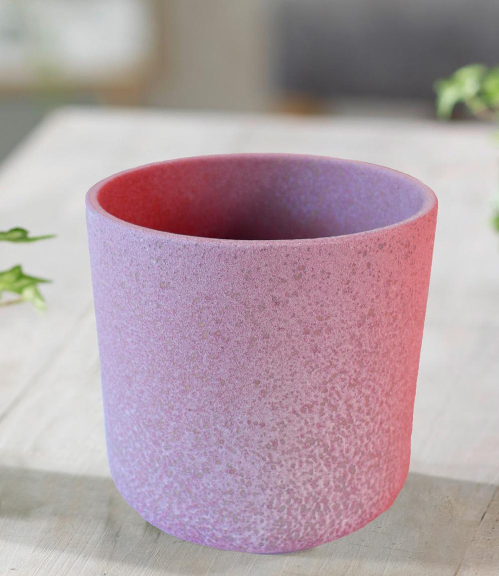 Keramik-Übertopf ø 13 cm 'antik pink'