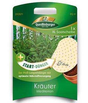 XL Saatscheibe Kräuter Mediterran+Start-Dünger,...