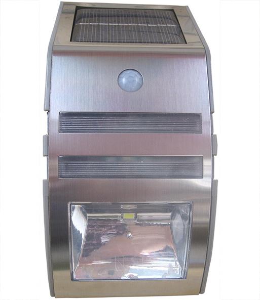 LED Solar Strahler Mit Bewegungsmelder Edelstahl