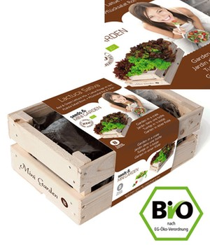 Mini-Garten BIO-Pflücksalat ´Rot & Grün´,1 Kiste