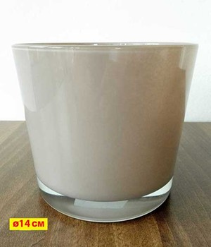 Glas-Übertopf ø 14 cm ´taupe´, 1 Stück jetztbilligerkaufen