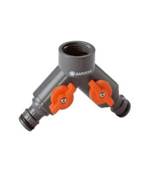 GARDENA&reg, 2-Wege-Ventil für Wasserhähne mit 26,5 mm (G3/4)-Gewinde,1 Stück