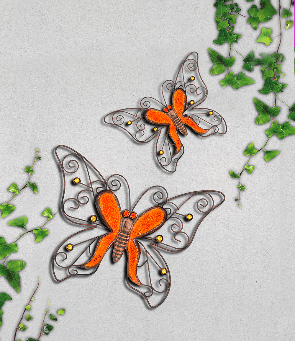 """*NEU*: Wanddekoration """"Schmetterling"""" aus Metall/Glas, bunt"""