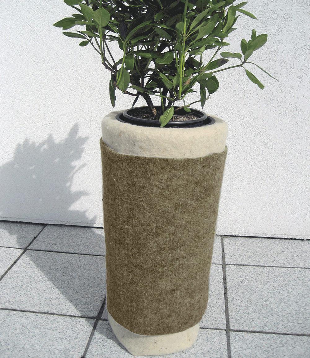 Winterschutzmatte aus Schafwolle 'grau' 200×100 cm