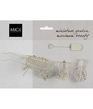 Mini-Garten Schubkarre/Fahrrad/Schaufel weiß,1 Set jetztbilligerkaufen