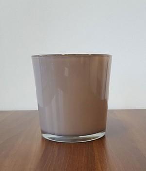 Glas-Übertopf ø 19 cm ´taube´, 1 Stück