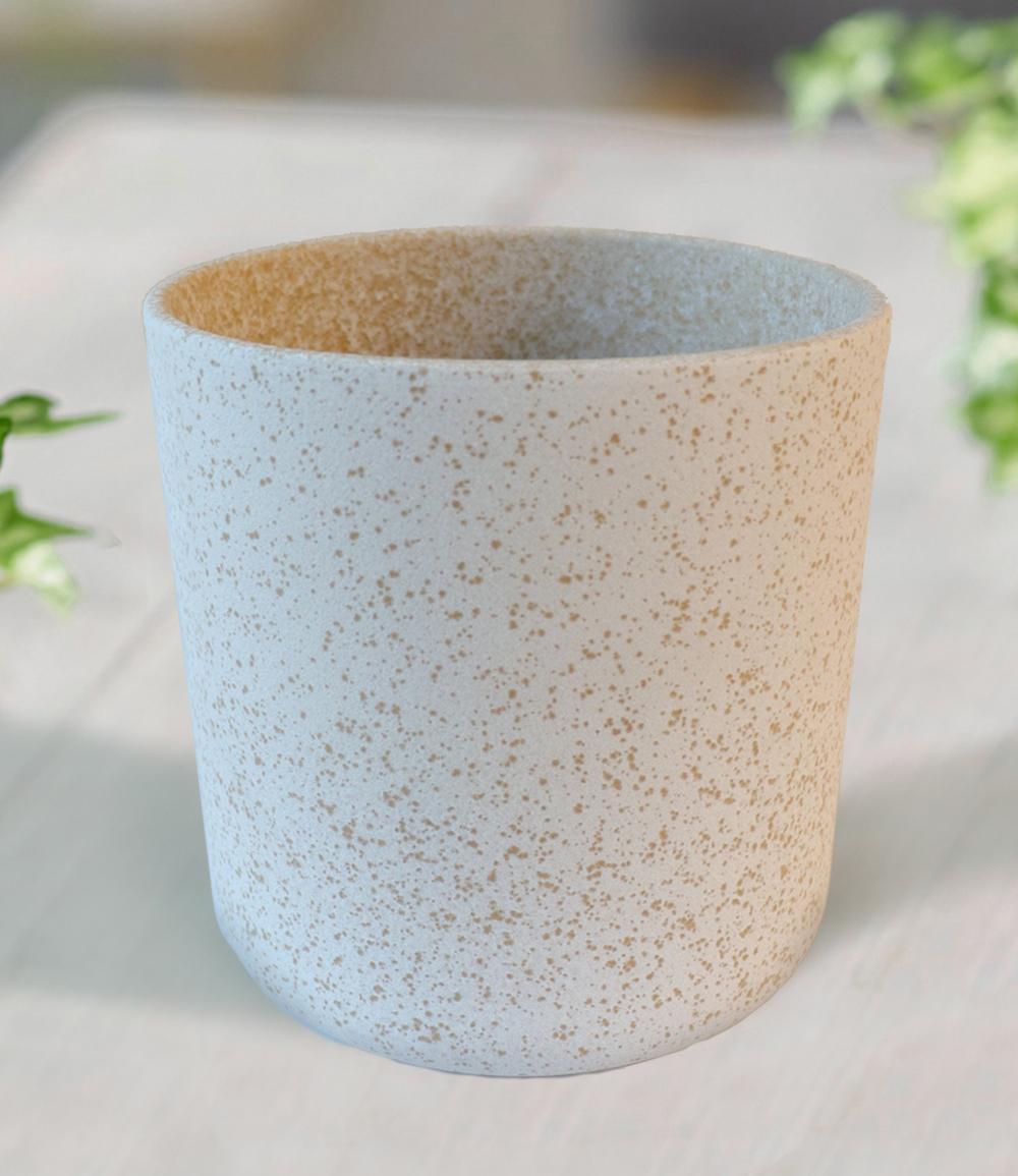 Keramik-Übertopf ø 13 cm 'weiß'