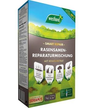 Trockenheitsresistente Rasensamen Reparaturmischung  - Smart Repair -  8 m²,1 kg