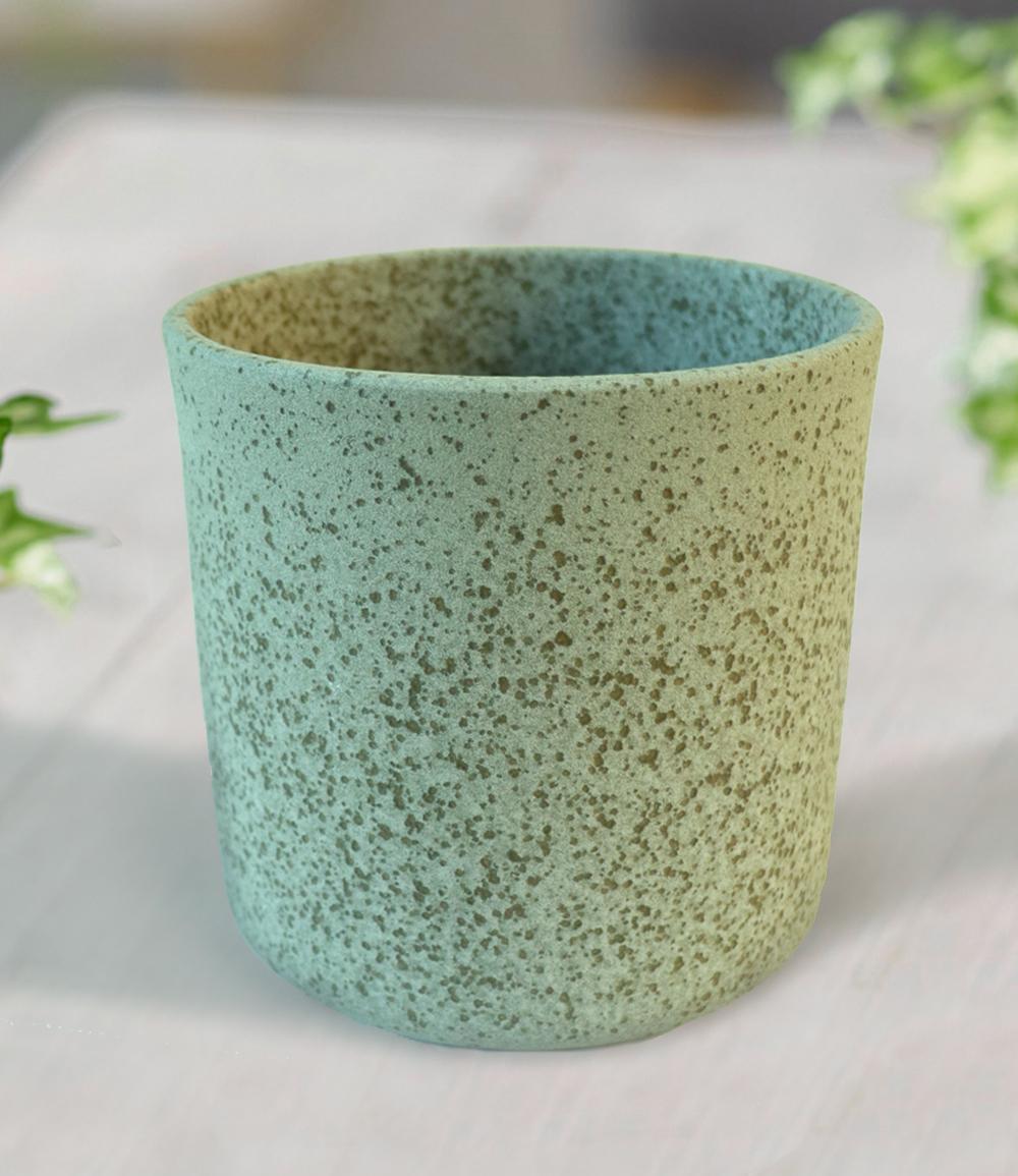 Keramik-Übertopf ø 13 cm 'grün'