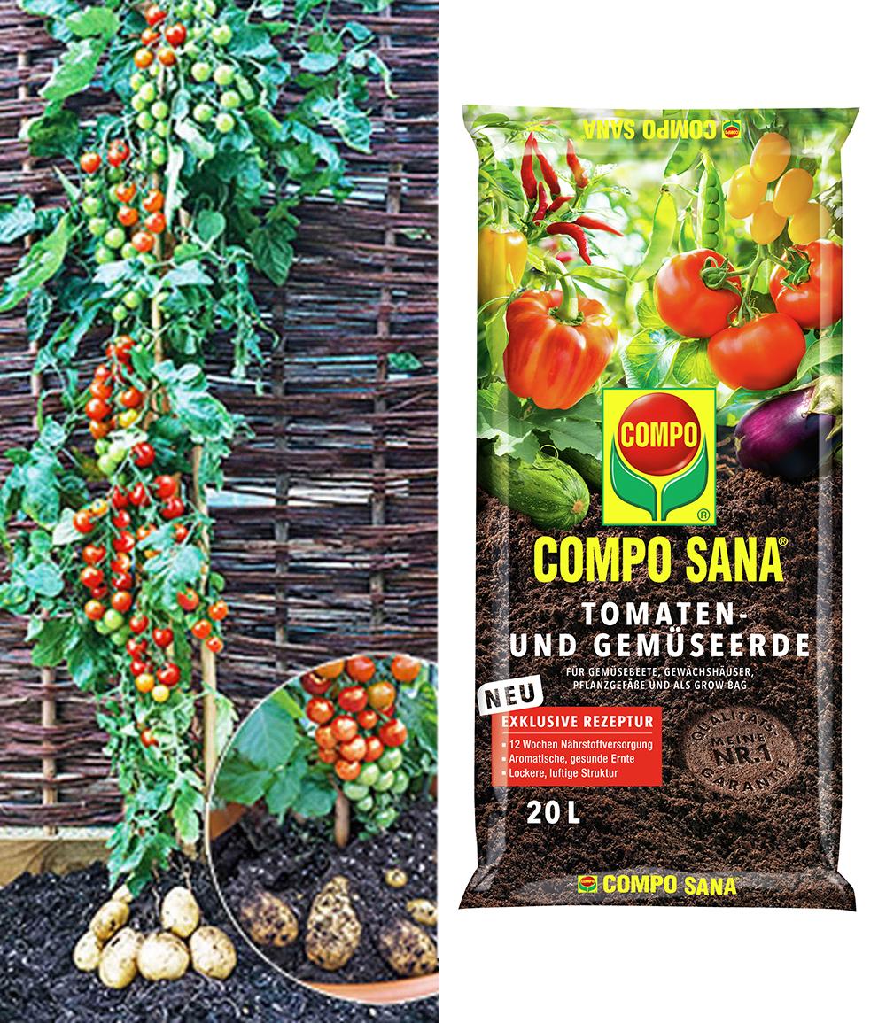 TomTato® & COMPO® SANA® Tomaten- und Gemüseerde