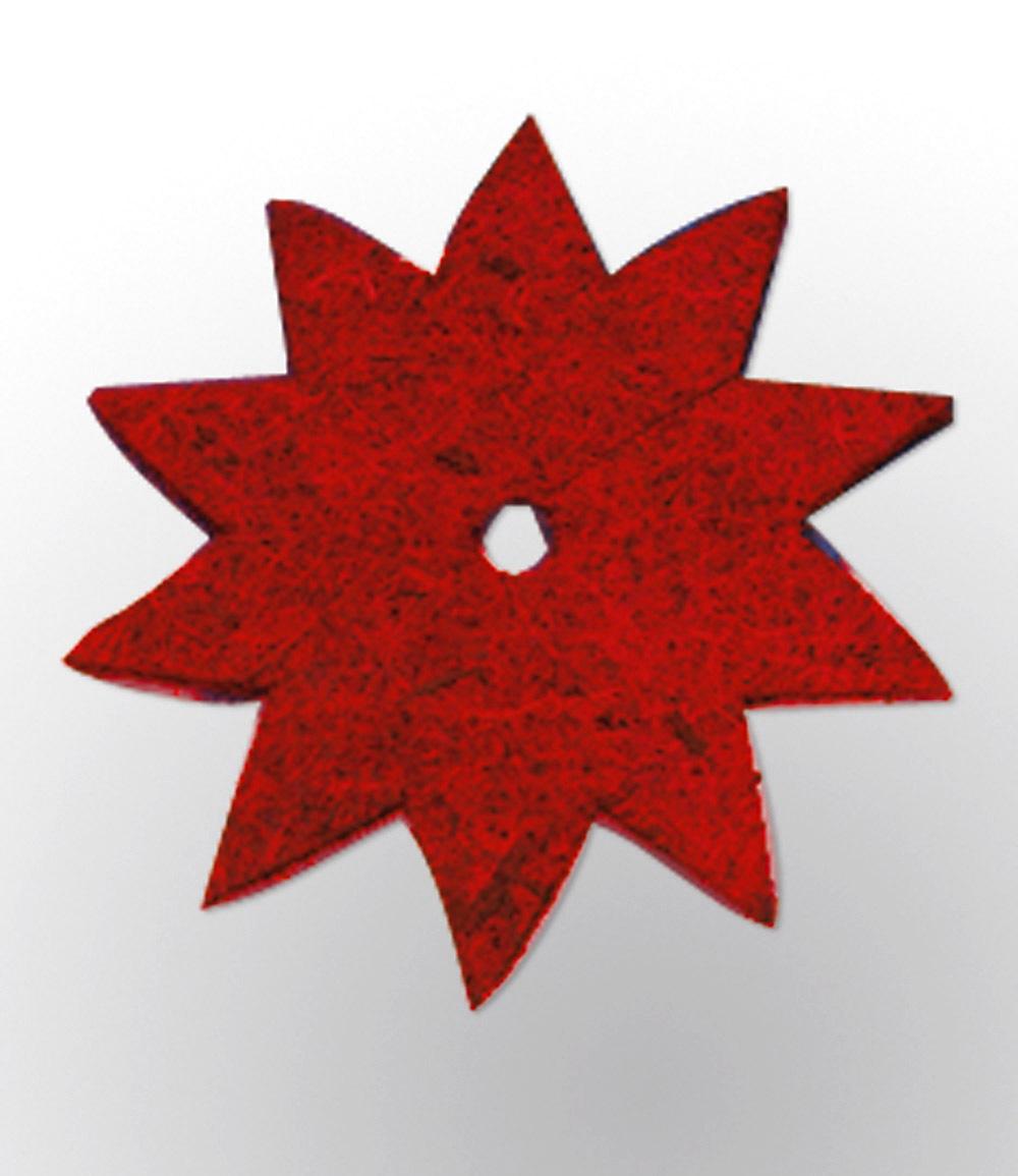 Topfuntersetzer Stern rot 40 cm