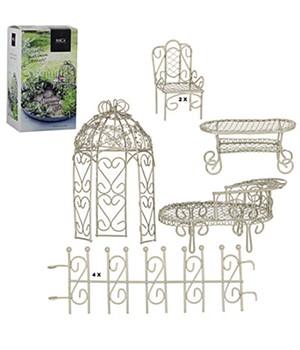 Mini-Garten Starter-Set ´weiß´ 9-teilig,1 Set